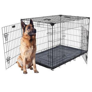 Cage-grillagée-d'intérieur-et-de-transport-pour-chien-X-Large-122-x-76-x-84-cm-Lucky-Dog-pour-grands-chiens