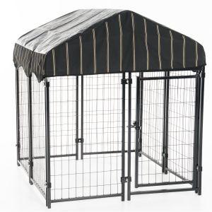 Chenil-et-box-de-détente-pour-chien-carré-120-x-120-x-132-cm-Lucky-Dog
