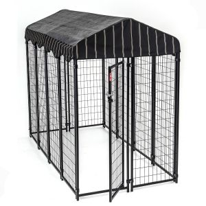 Chenil et box de détente pour chien rectangle 240 x 120 x 180 cm Lucky Dog