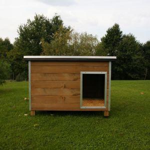 Niche pour chien en bois FSC  Rocky 2 vue de face toit fermé