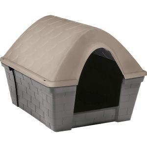 Niche à chien plastique Casa Felice gris et taupe taille S - Zolux