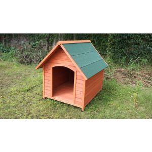 Niche-pour-chien-Natura-XL-toit-Shnigle-face-avant-côté-droit.-