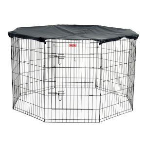 Aire-d'exercice-couverte-pour-chien-8-panneaux-grillagés-183-x-92-cm-Lucky-Dog