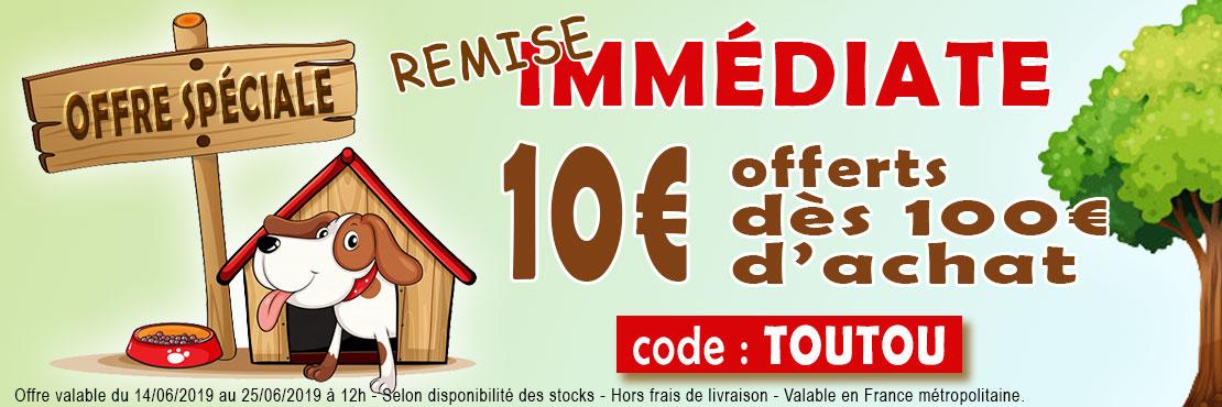 10€ de remise dès 100€ d'achat